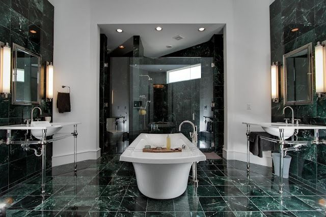 this green marble with white veining is one of my favorite materials rh pinterest com Green Natural Stone Tile Dark Green Marble Tile Bathroom