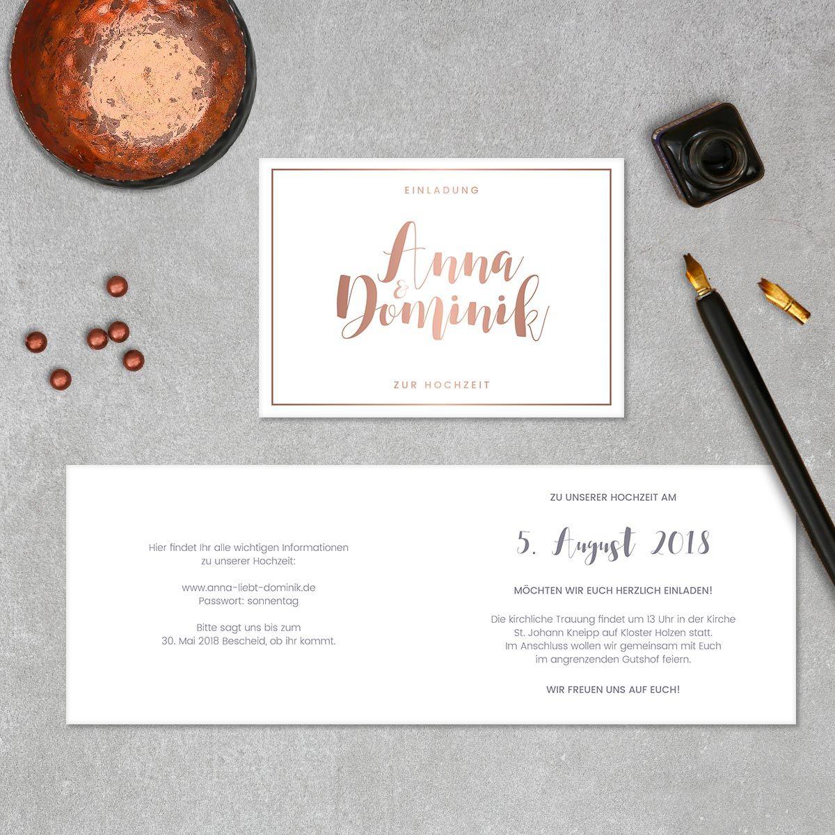 Hochzeitseinladungen querformat