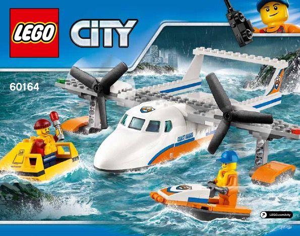 City Sea Rescue Plane 60164 Lego Instructions Pinterest