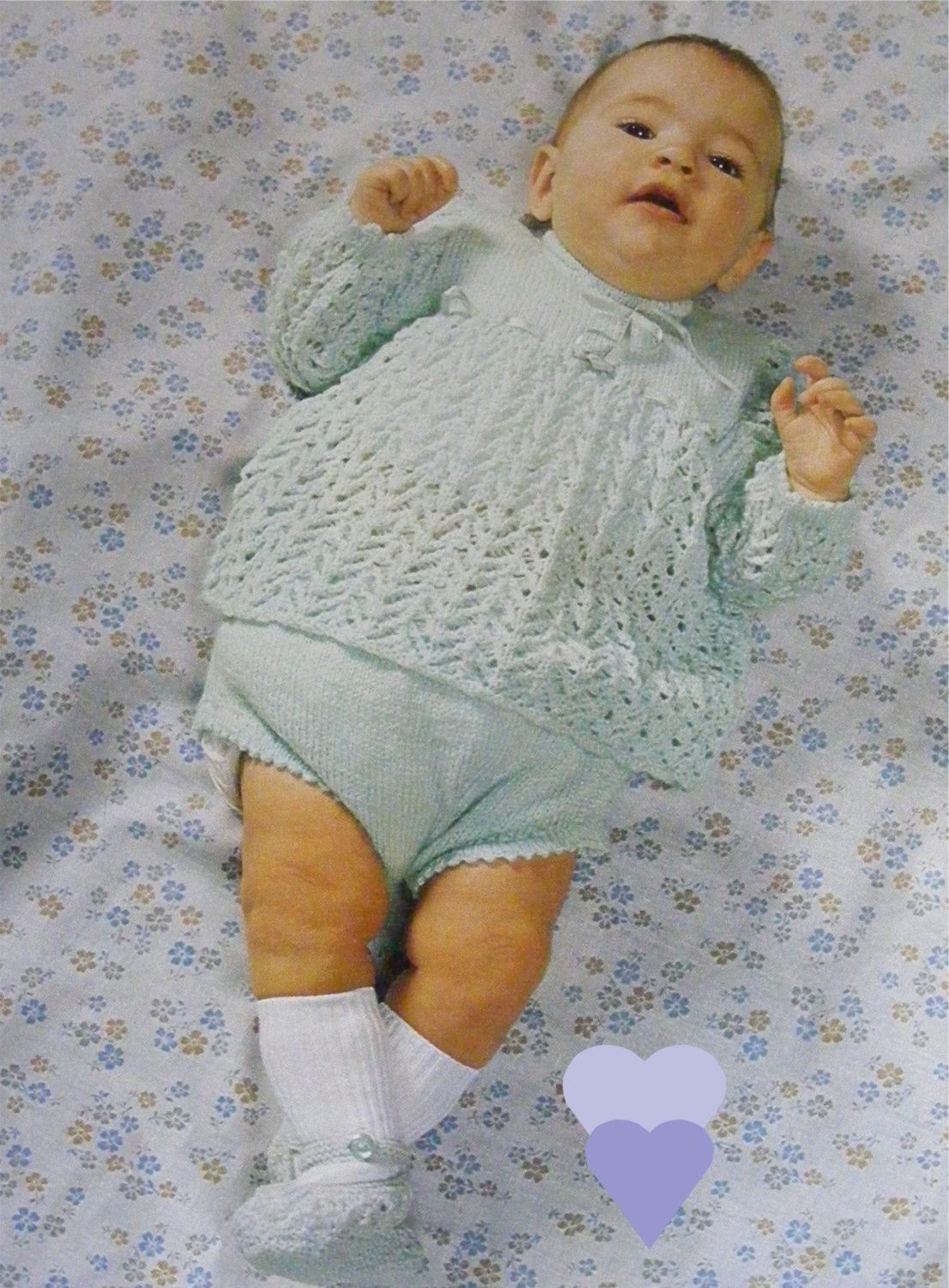 Baby Girls Angel Top / Dress, Pants and Shoes PDF Knitting Pattern ...