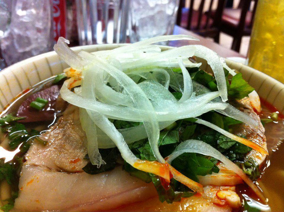 Spicy noodle soup, Bun Bo Hue An Nam, San Jose.   Avengers: Will, Scott Kyono and James Hoang.