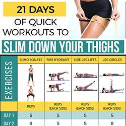 21 days of quick workouts to slim down your thighs  how
