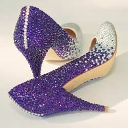 cbf2b814812e Purple Sparkly Wedding Shoes – Silver Wedding Theme Surprise ...