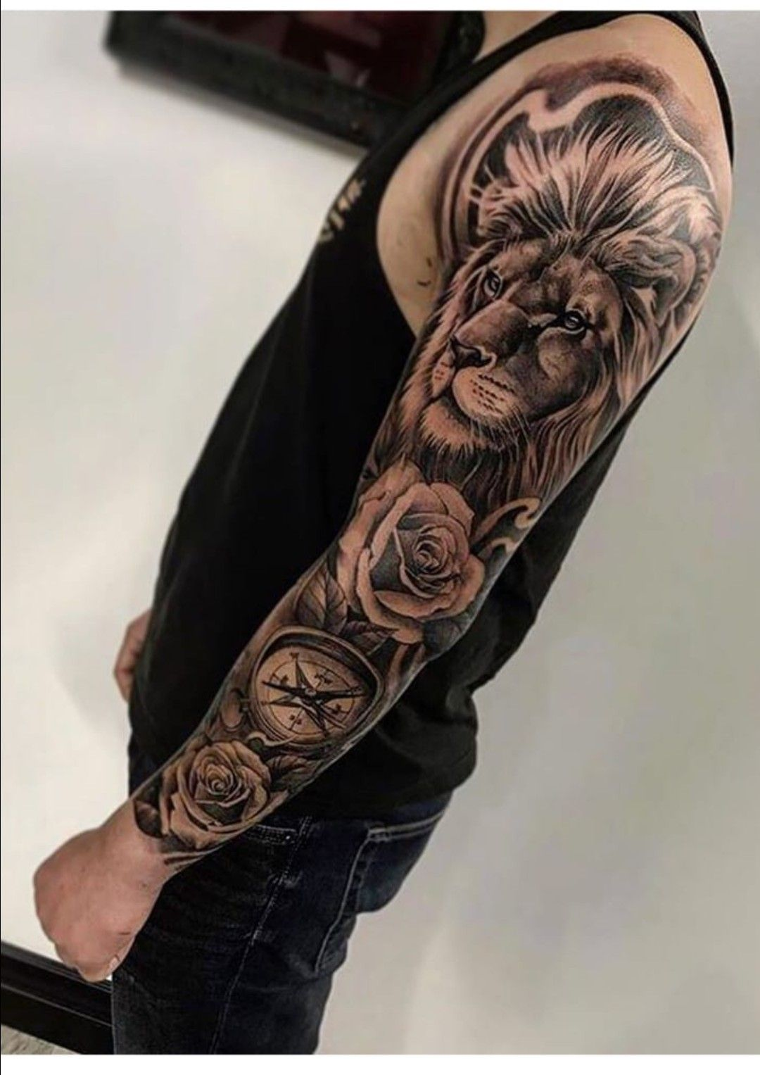 Pin By Ryan Hilton On Tattoo Ideas Badass Tattoos Rose Tattoo Sleeve Best Sleeve Tattoos