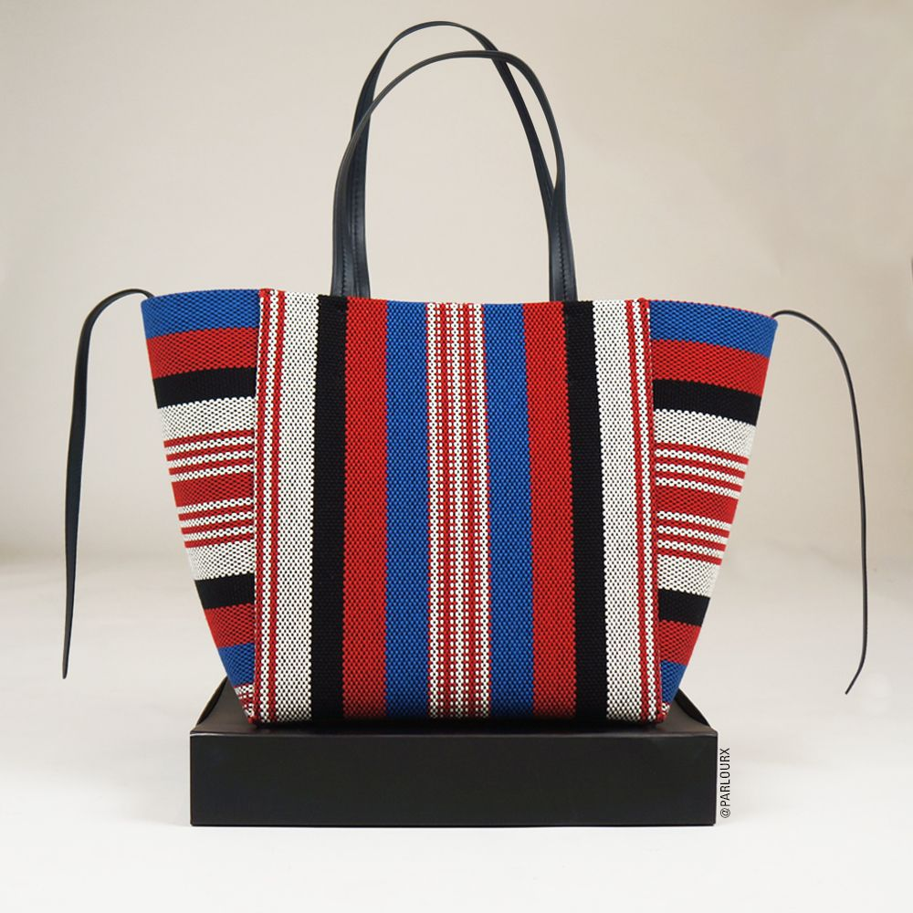 Celine Medium Phantom Cabas Textile Strip   Available @parlourx www.parlourx.com.au
