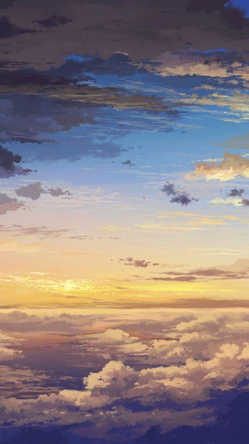 Sunrise Scenery Anime Scenery Sky Art Anime Art Beautiful