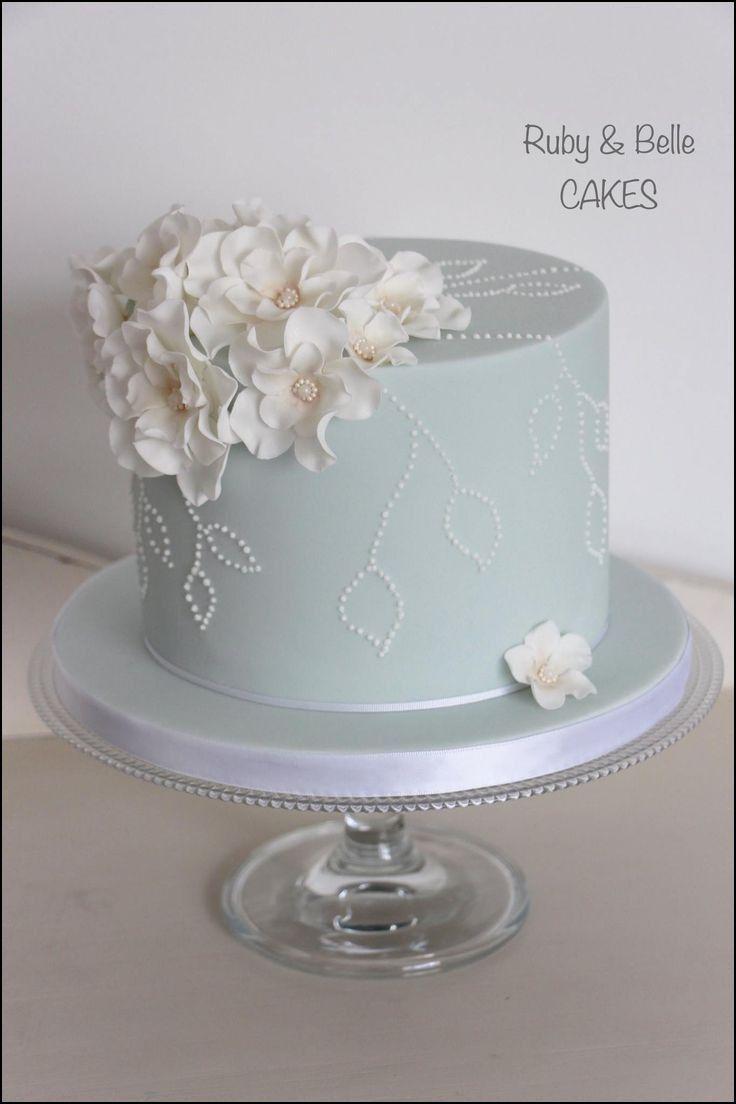 One layer wedding cake birthday cakes in pinterest cake