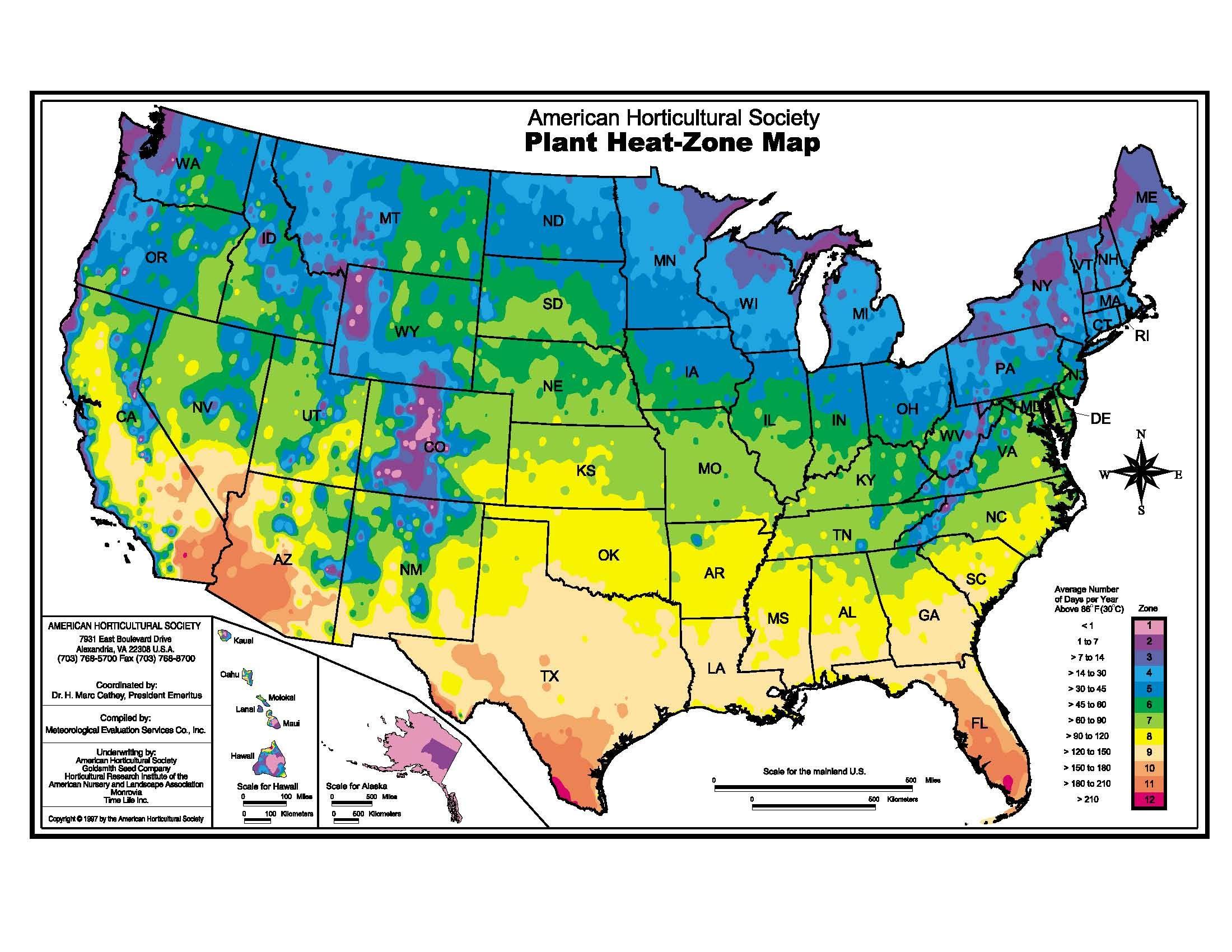 Plant Heat Zone Map