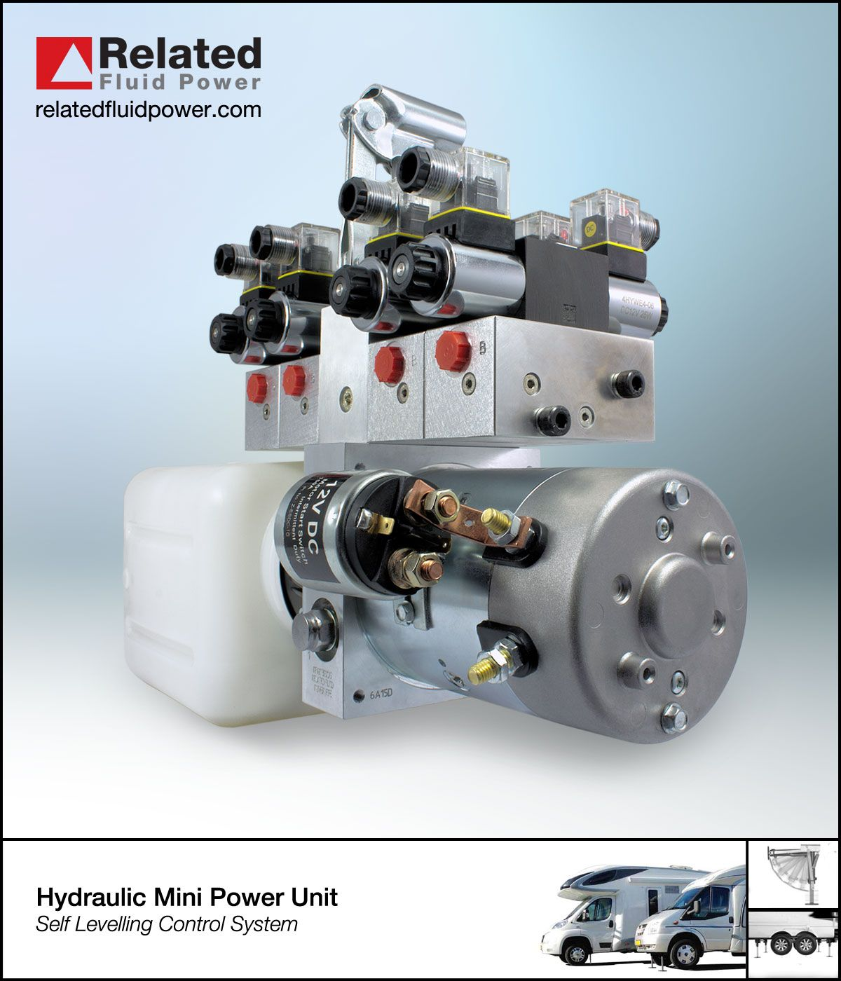 Hydraulic Mini Power Unit Used To Control The Self Levelling System On Motorhomes And Commercial Vehicles Hydraulic The Unit Commercial Vehicle