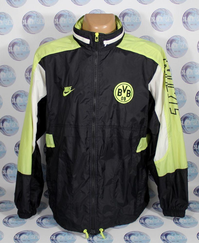 Borussia Dortmund 2000 S Jacket Coat Windbreaker Vintage Nike Mens Xl Rare Nike Borussiadortmund Vintage Nike Nike Men Mens Xl