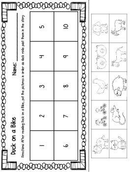 Duck On A Bike Printables Duck On A Bike Kindergarten Lessons Bike Craft