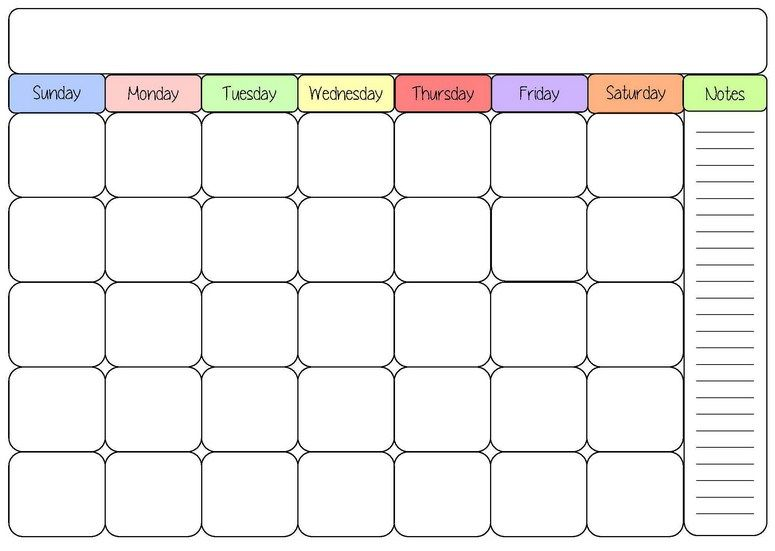 monthly planner pintu TK Pinterest Blank calendar, Blank