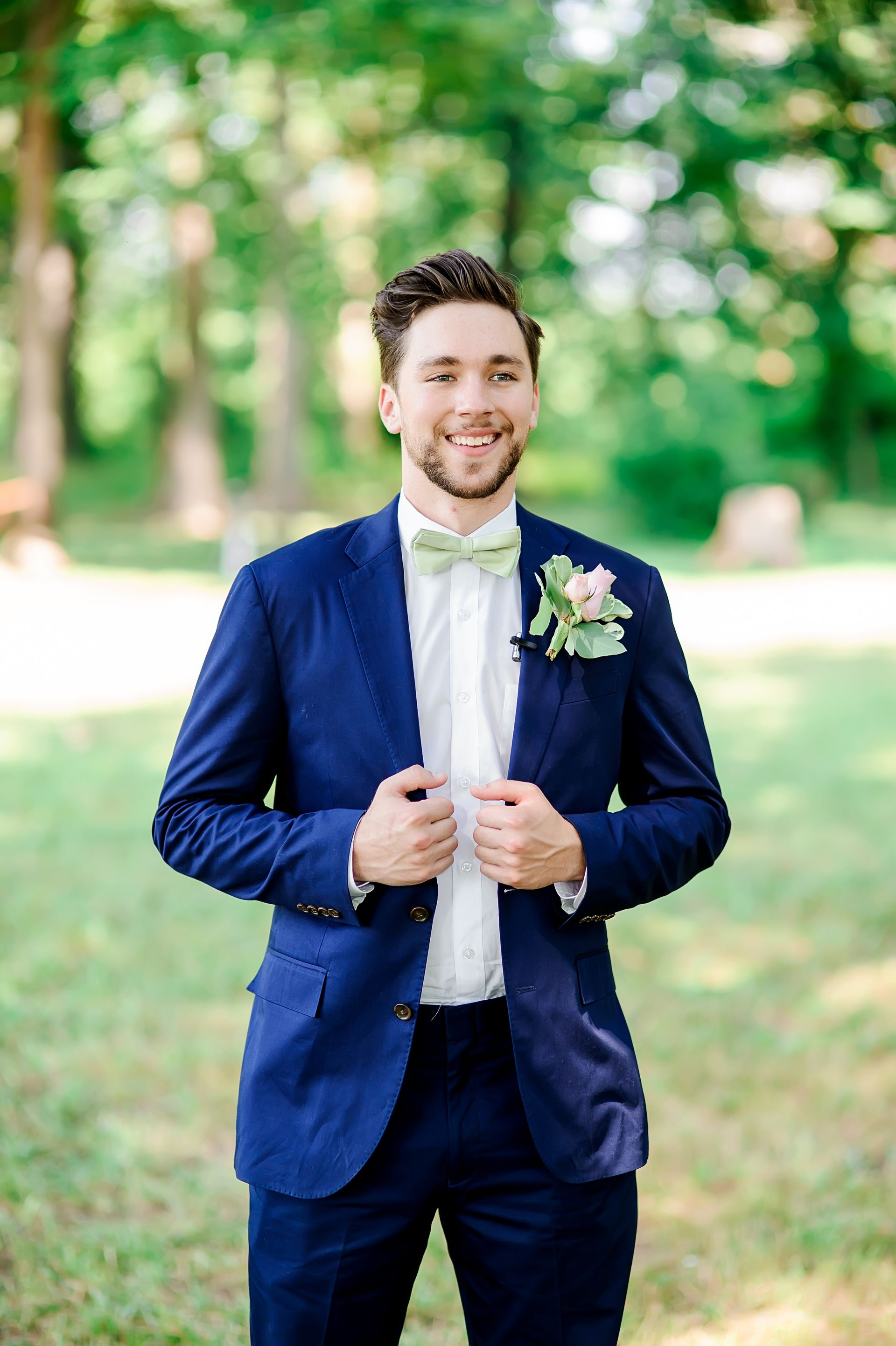 Pink dress shirt blue suit  The Smarter Way to Wed  Groom suit ideas  Pinterest  Navy blue