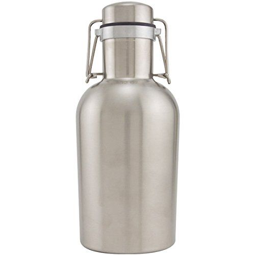 Stainless Steel Swing Top Beer Growler 1 Liter Read More Reviews Of The Product By Visiting The Link On The Image Beer Growler Fancy Water Bottles Growler