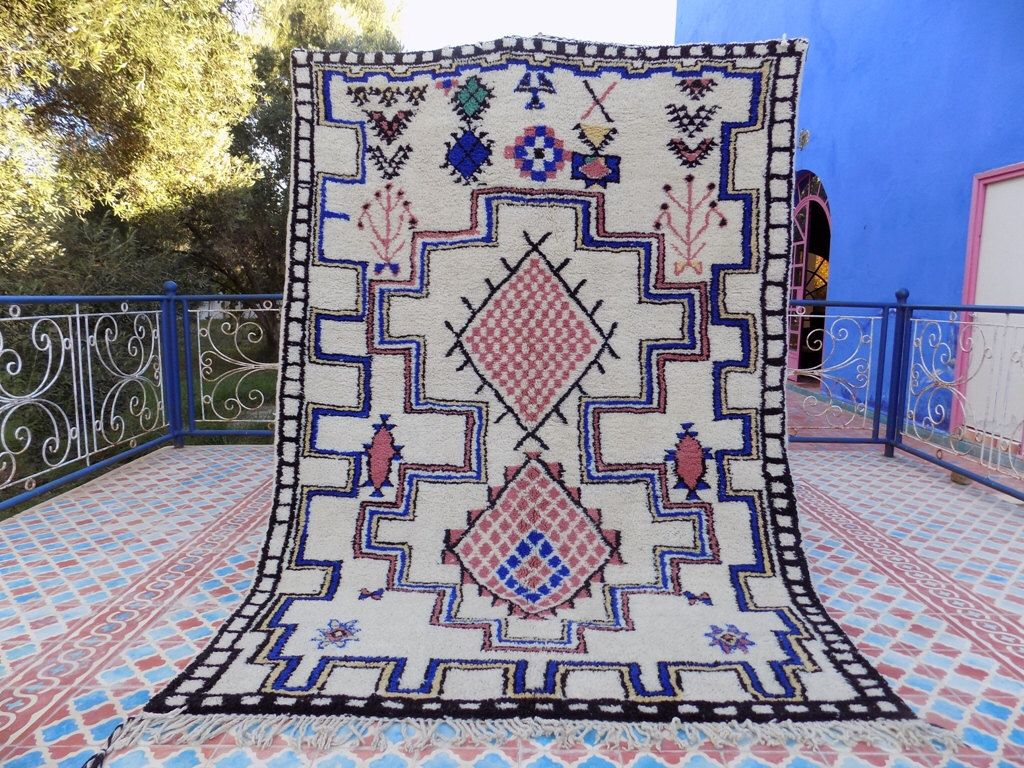Moroccan Berber Beni Ourain Rug Motifs Pinterest Tapis Tapis - Carrelage pas cher et tapis azilal