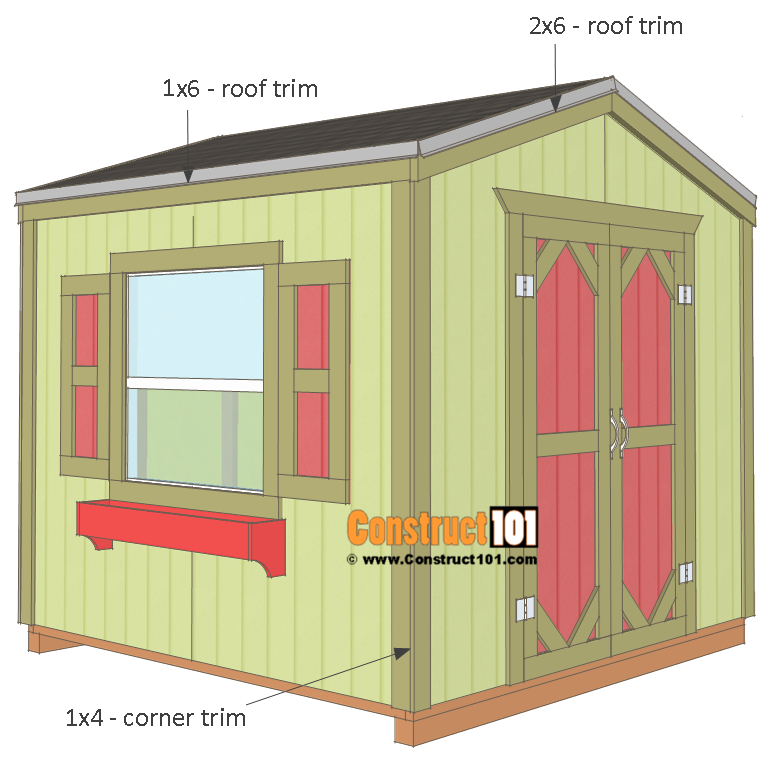 Garden Shed Plans 8x8 Step By Step With A Cluck Cluck Here