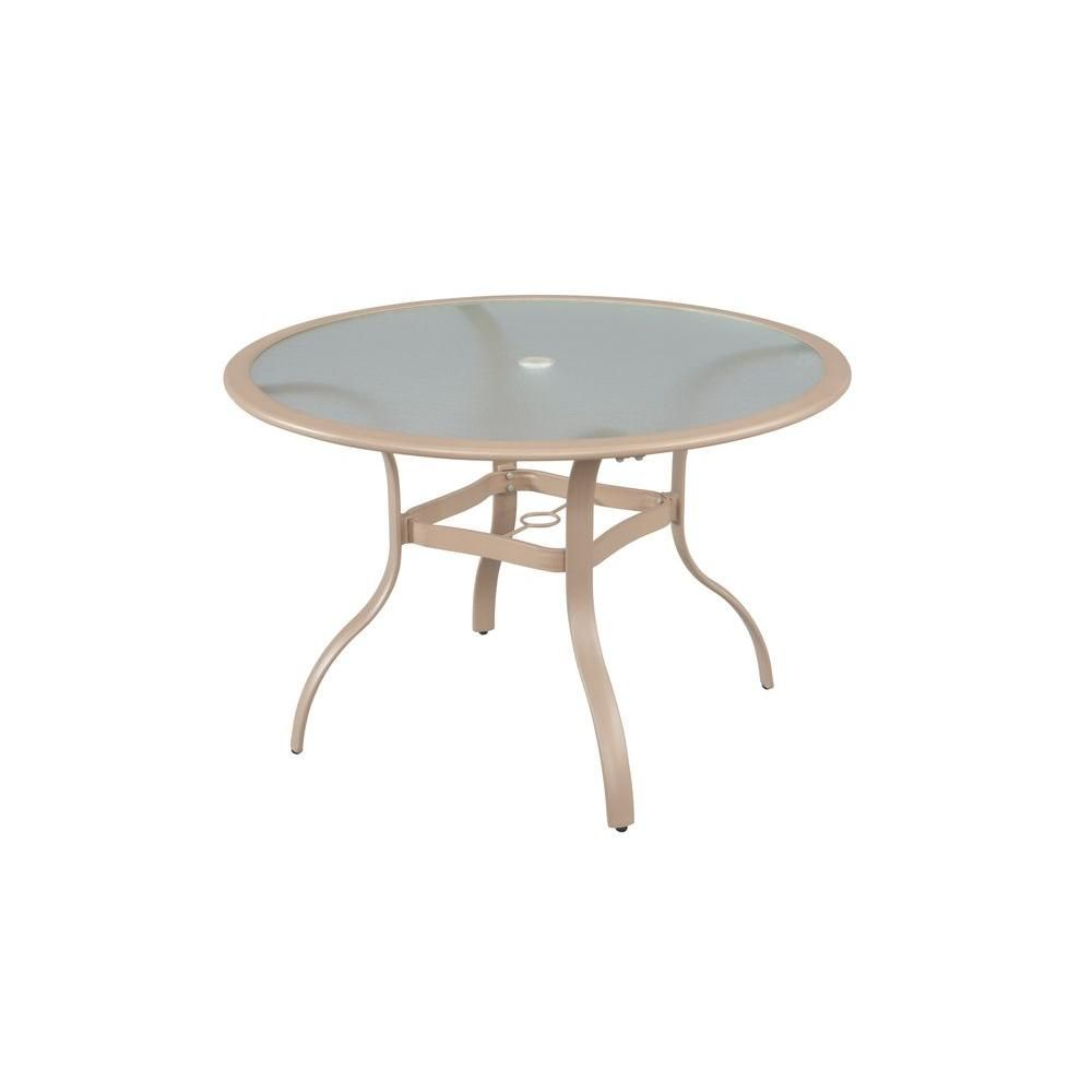 Hampton Bay Westin Commercial, Contract Grade 44 In. Round Commercial Patio  Dining Table