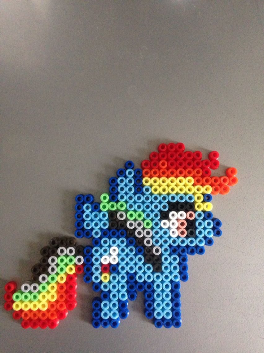 Rainbow Dash *My Little Pony* (Perles Hama / Perler Beads)