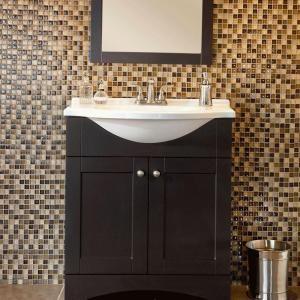 Glacier Bay Del Mar 30 In. W X 19 In. D Bath Vanity In Espresso With AB  Engineered Composite Vanity Top