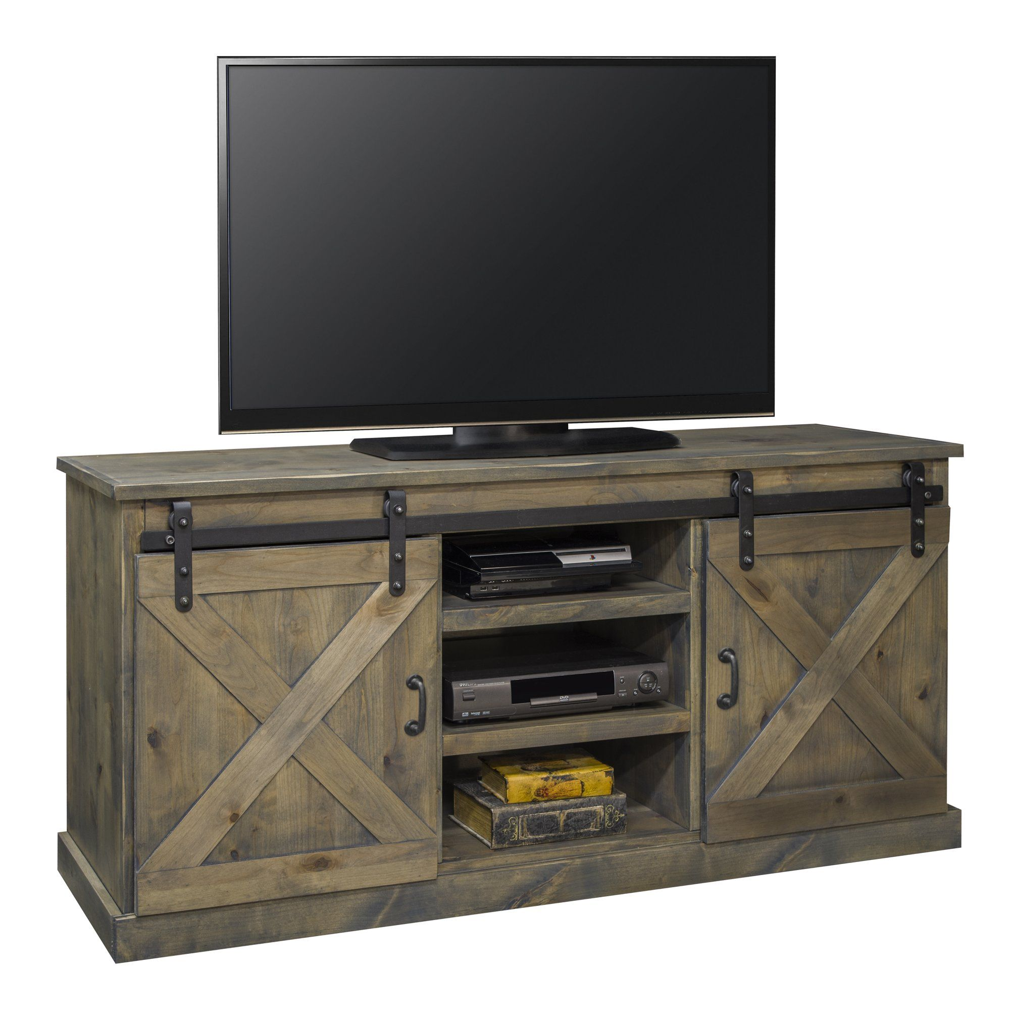 Birch lane media 900 in barn wood farmhouse tv