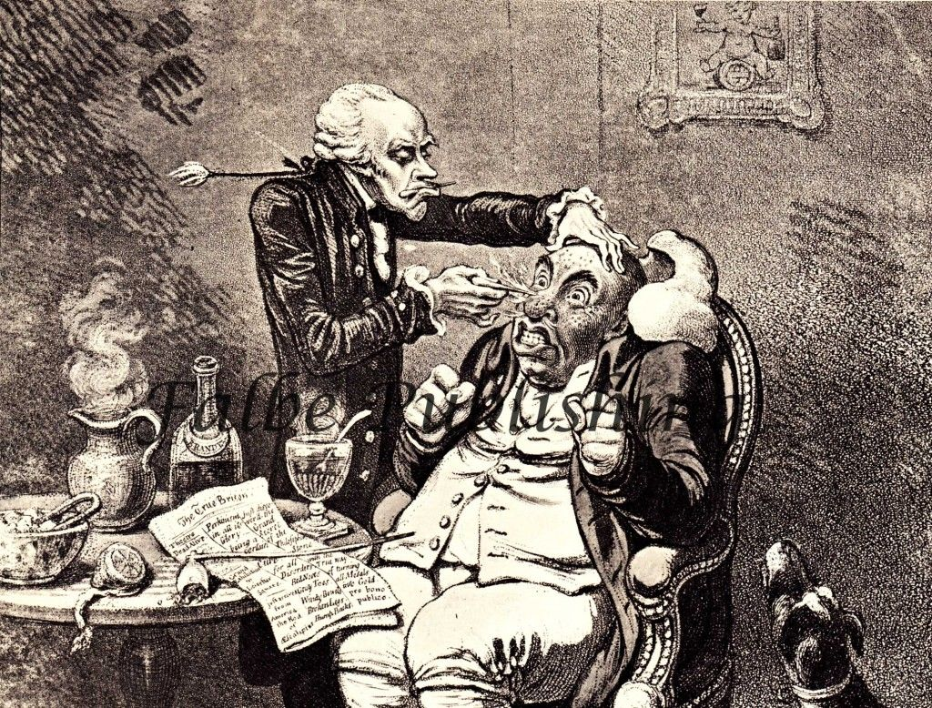 Medical Quack Vintage 18th Century Illustration Of Doctor