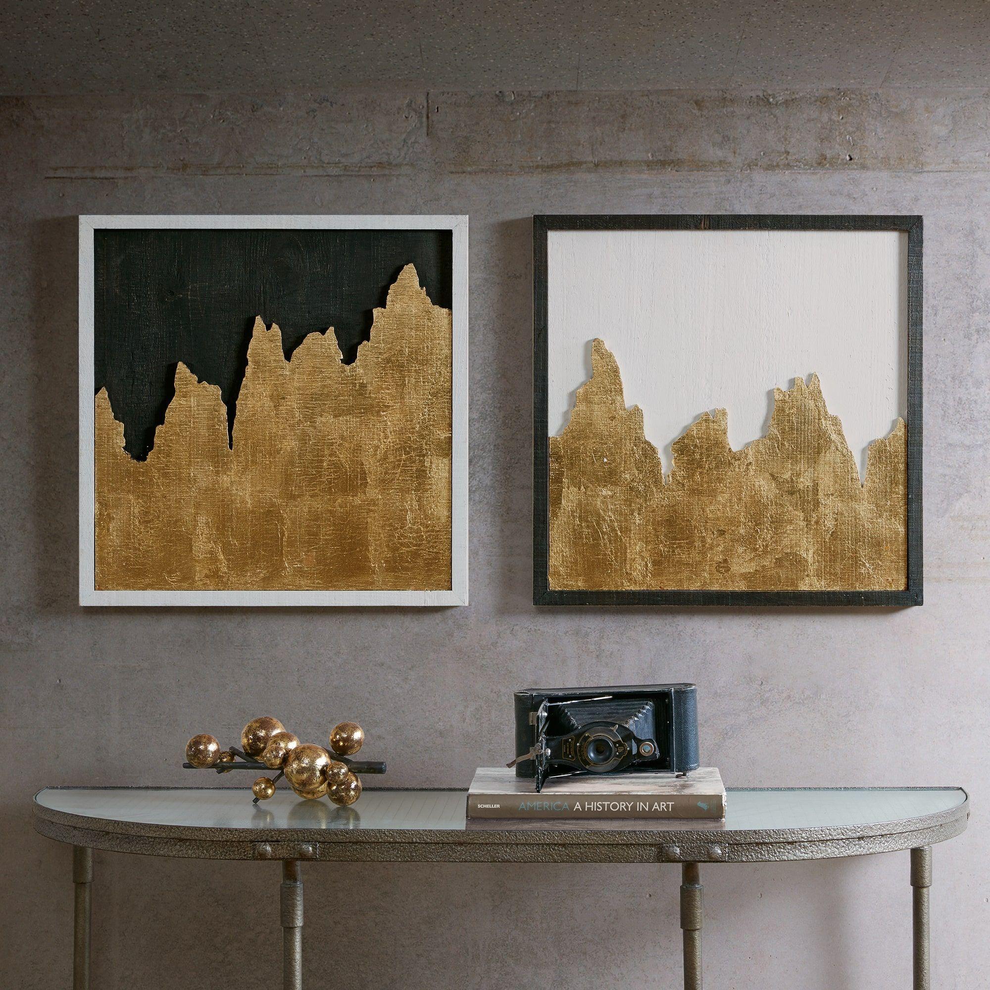 Inkivy richter gold wall decor set of w x