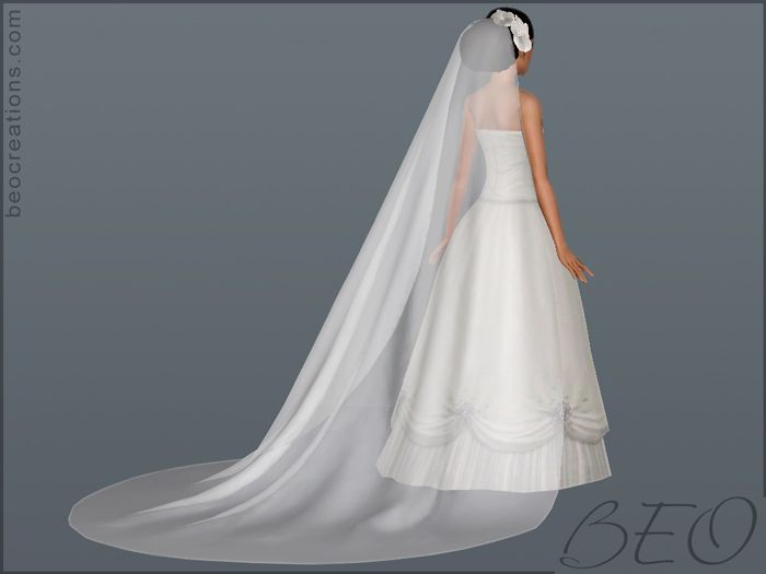 Sims 4 Wedding Veil.Beo Creations Long Veil And Flowers The Sims 3 Cc Sims 4 Sims