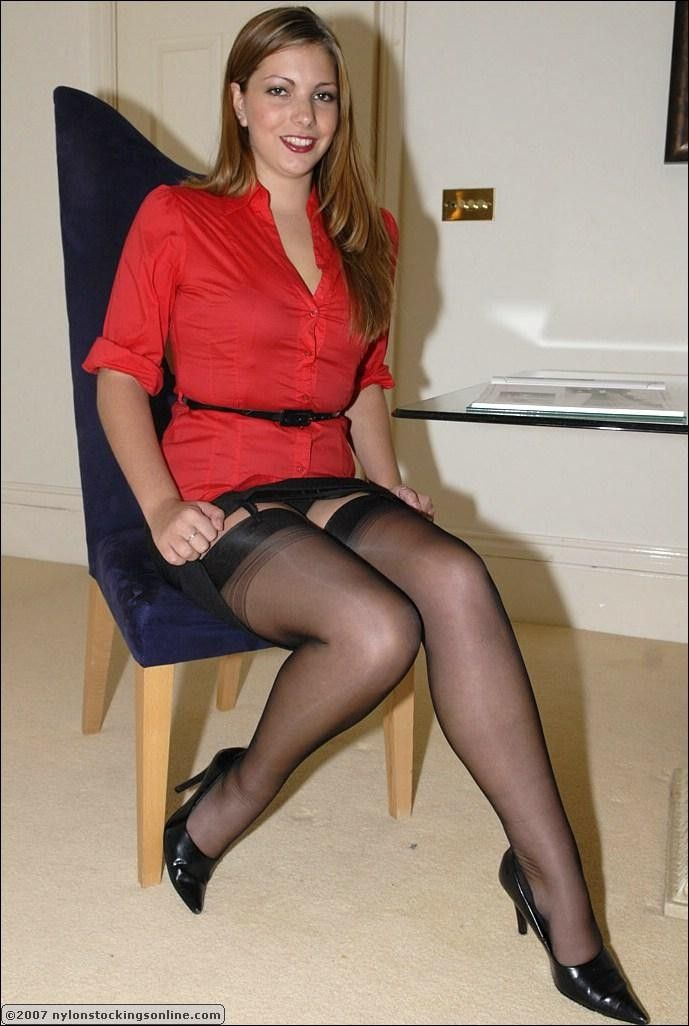 A Smoking Hot Lady / MILF in Stockings or Pantyhose ...