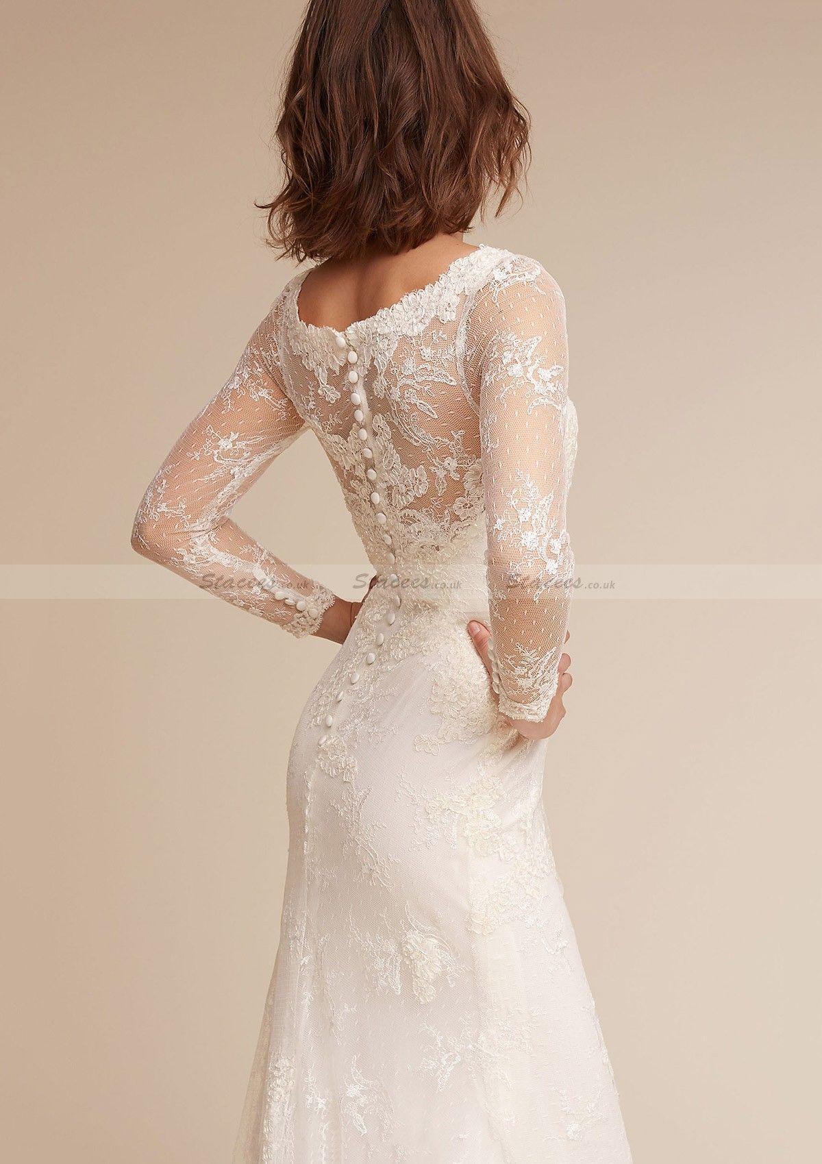 Tulle wedding dress sheathcolumn bateau sweep train with appliqued