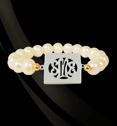 Jane Basch Designs - Rectangle #Monogram #Bracelet, $213.00 (http://store.janebasch.com/rectangle-monogram-bracelet/)