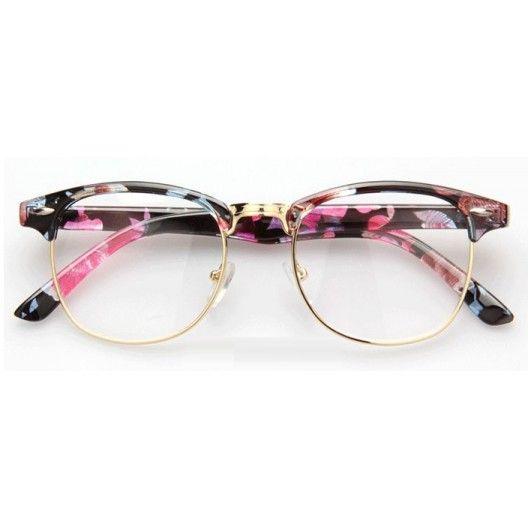 da1dfdb420298e elegant lunettes sans correction du style clubmaster avec monture flower  pour un style reto existe with correction lunettes