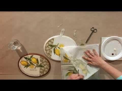 le collage de serviettes niv 1 decoupage decoupage. Black Bedroom Furniture Sets. Home Design Ideas