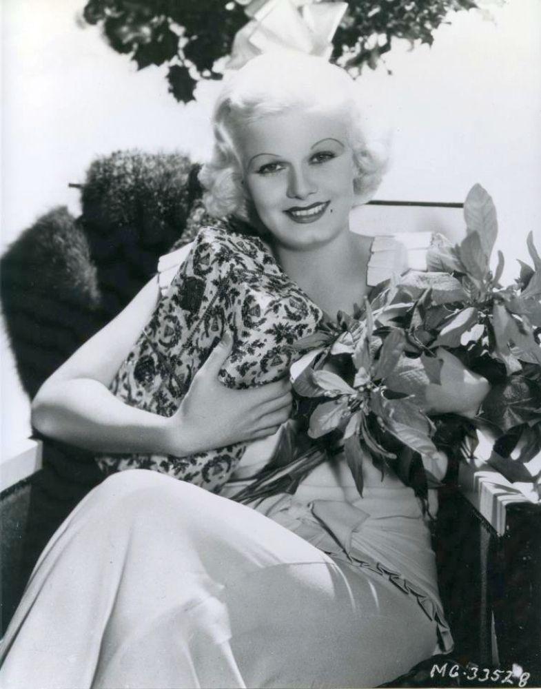 Jean Harlow  ~ Christmas 1933
