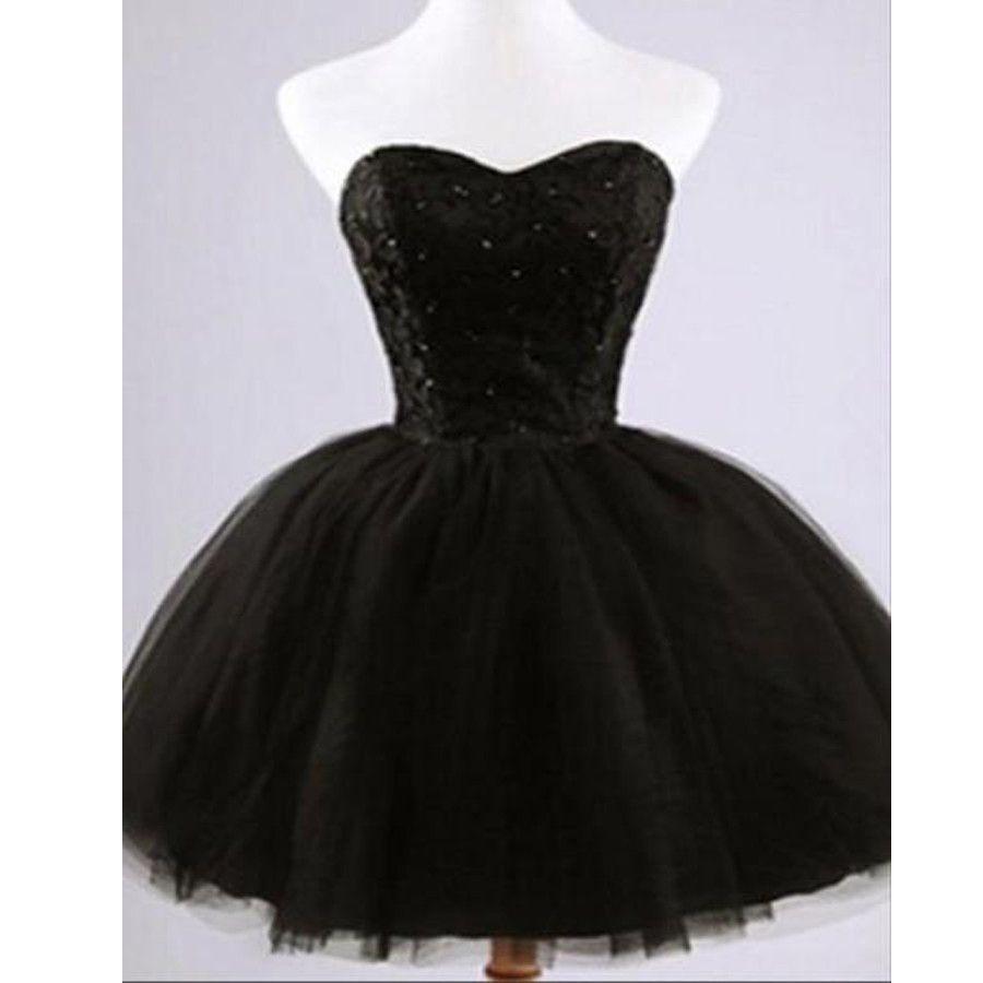 Formal lace little black dress short homecoming prom dresses
