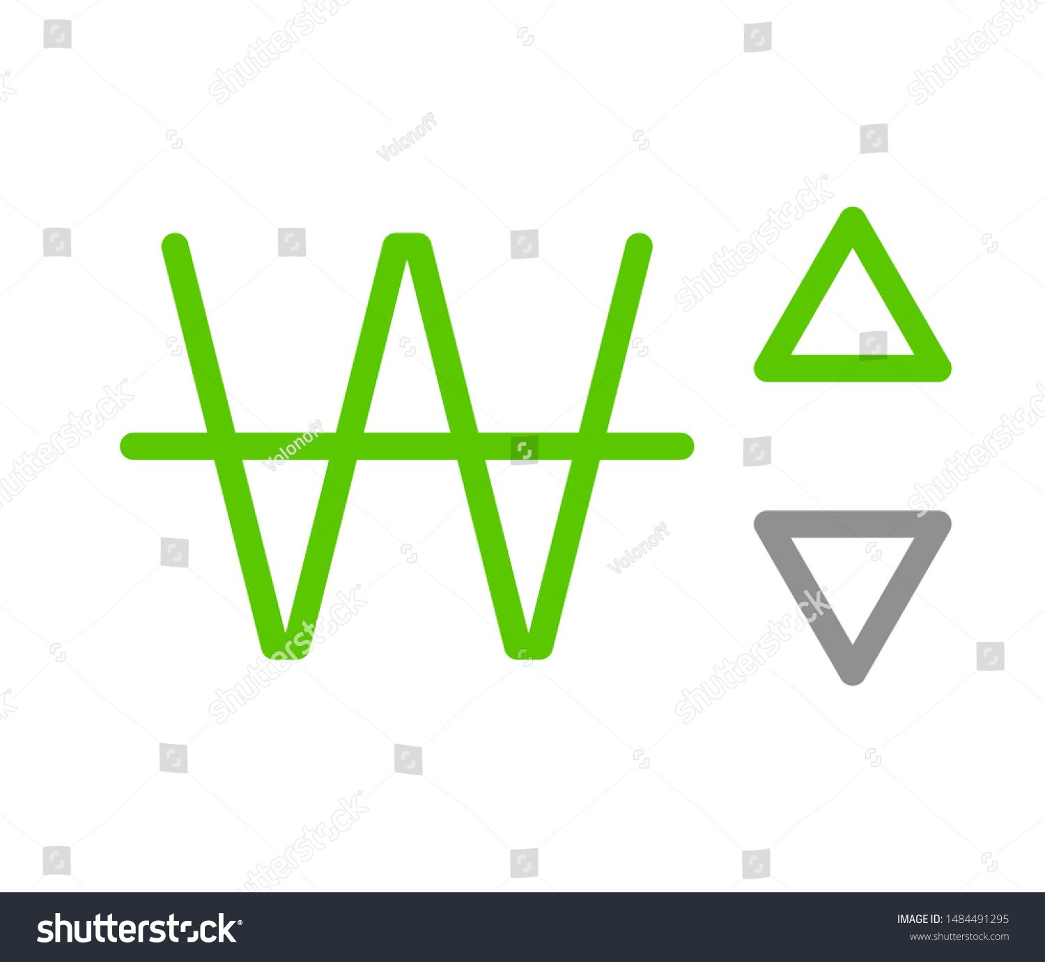 W Kpw 408 Won Dprk Banking Currency Icon Typography Logo Banner Set Isolated On Background Abstract Concept Gr Logo Banners Typography Logo Website Design