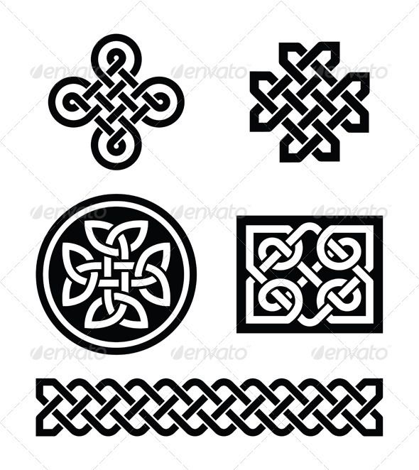 Celtic Knots Patterns Vector Pinterest Celtic Knots Knotted