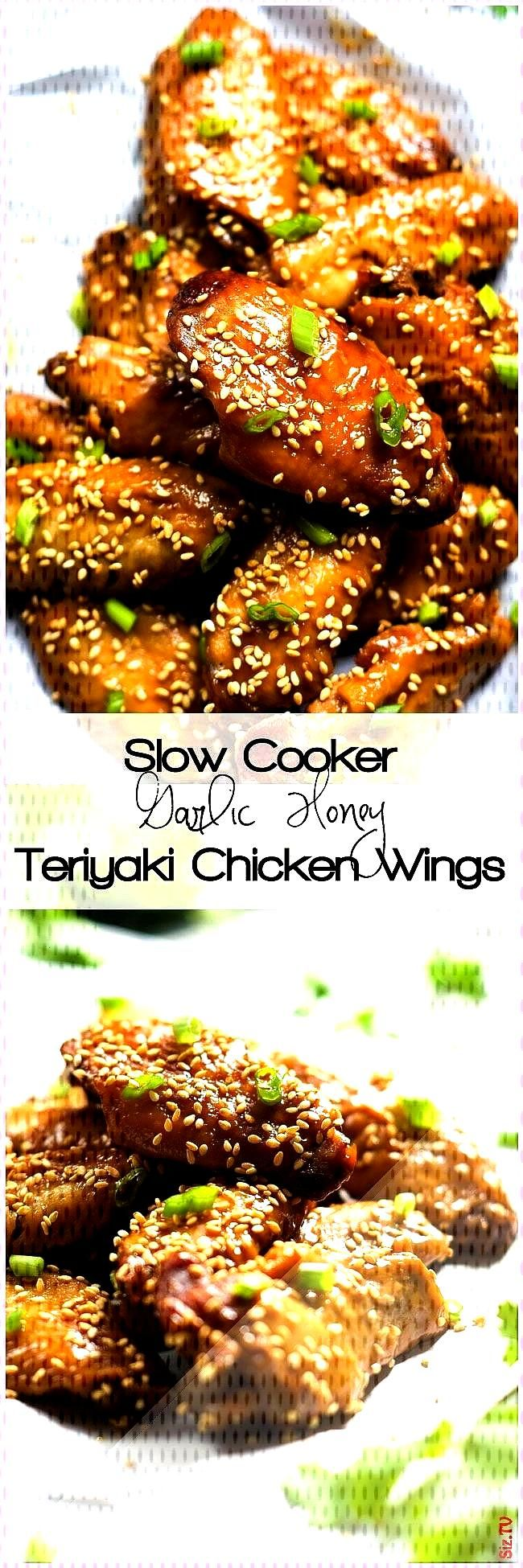 the fryer with these Slow Cooker Garlic Honey Teriyaki Chicken Wings Filled with Asian flavors of g