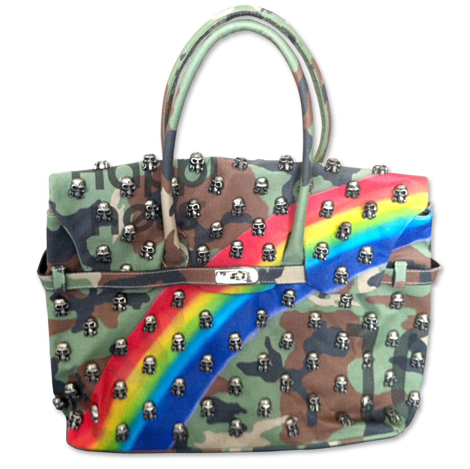 Borsa moda HAPPINESS MIA BAG BORCHIE teschi nuovo Tg. MEDIA
