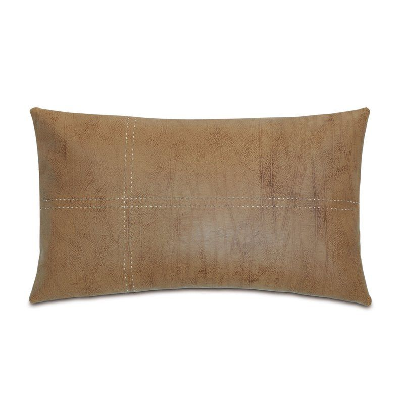 Chalet Faux Leather Down Lumbar Pillow Lumbar Pillow Leather Throw Pillows Suede Throw Pillows