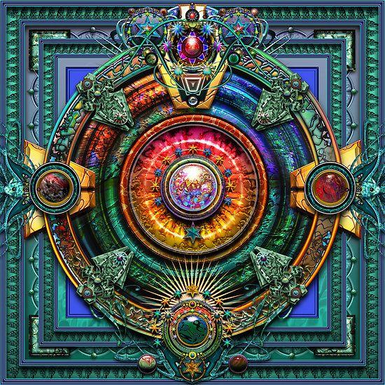 amazing computer-painted mandala by artist Steve Radic