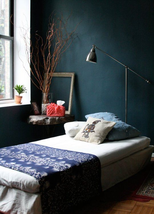 Room  dark teal ...