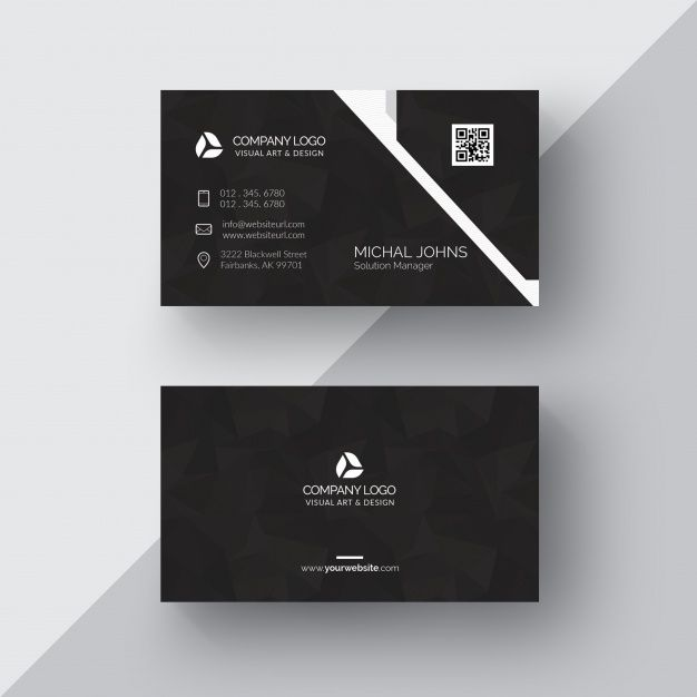 Download Black Business Card With Silver Details For Free Company Business Cards Printing Business Cards Free Business Card Templates
