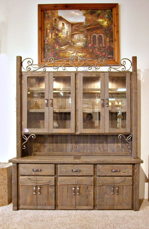 china cabinet - hutch with wine rack - sph481 - handmade dining
