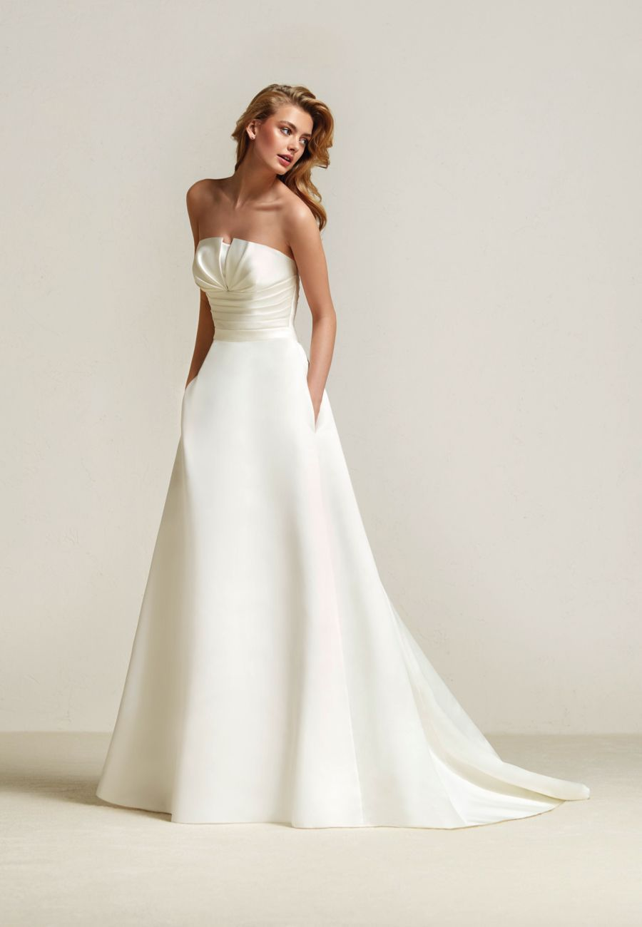 Draminia pronovias meghan markle wedding dress style predictions