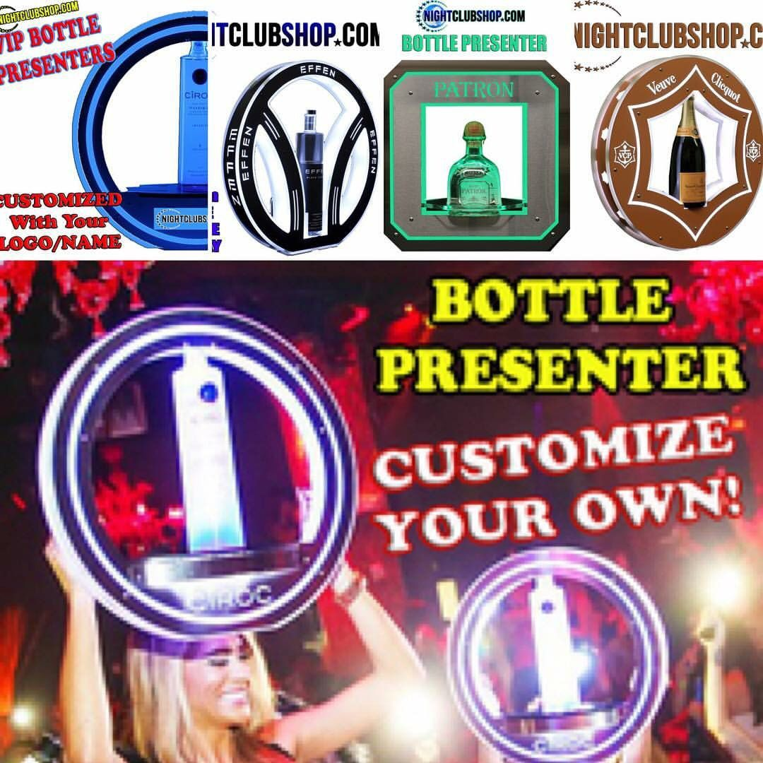 #Customize And #Brand your Own #BottlePresenter With your Own #Logo or #Art. #Order Online With Our Bert simple process, Step Up your #Bottle Game!!! #LED #Bottle #BottleService #BottleDelivery #Delivery #VIP #Presenter #Carrier #Liquor #Champagne #WineList