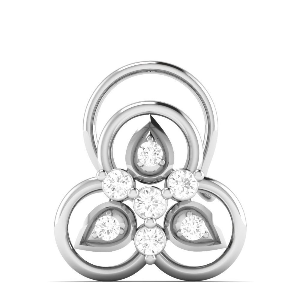 Details about  CT Natural Diamond I HI Nose Body Piercing Ring