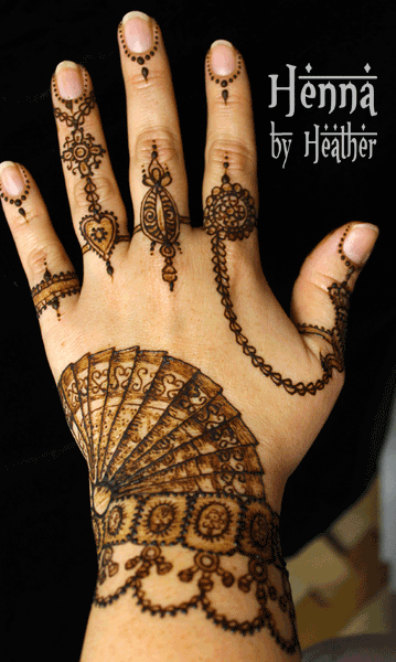 13 Unique Henna Designs Doing The Rounds This Wessing: Bharatnatyam Saree Inspired Henna Design