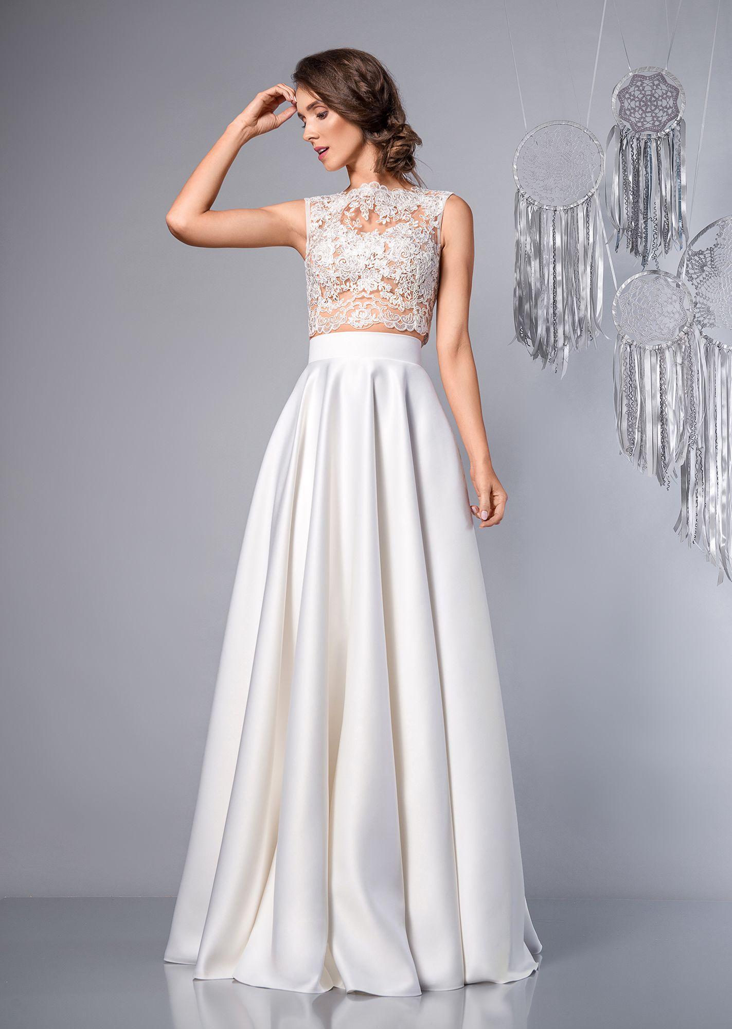 829761e873 Funny - suknia ślubna dwuczęściowa. Two-Piece Maxi Wedding Dress.   sukniaślubna  dwuczęściowa  weddingdress