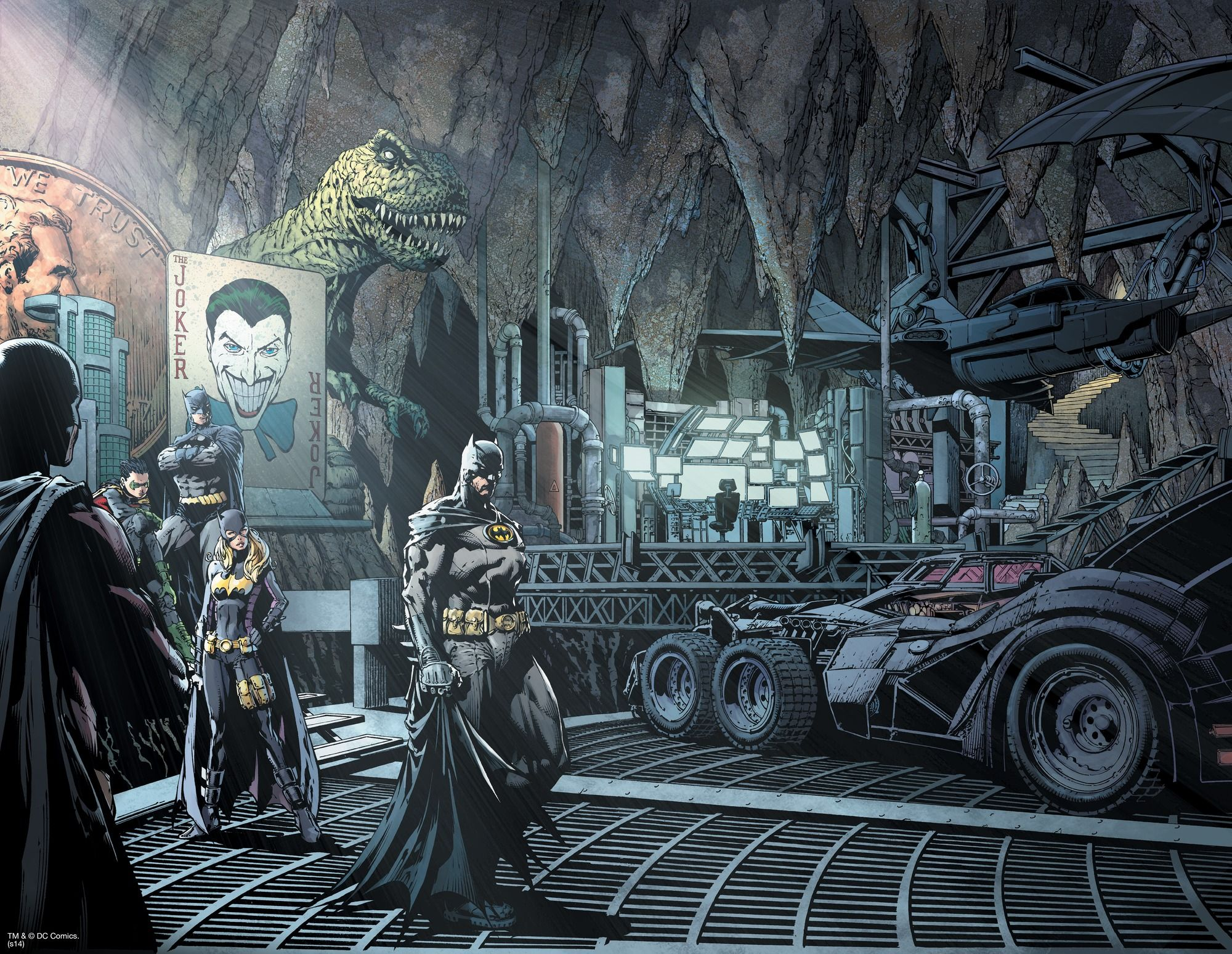 The Batcave wall mural