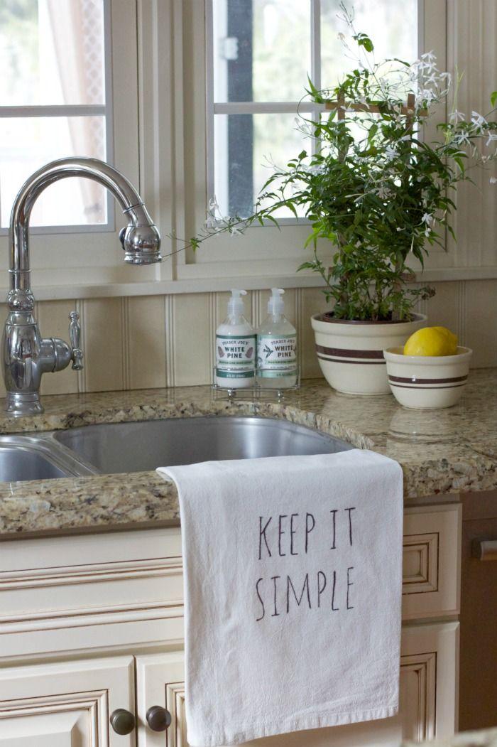 Make A Lettered Kitchen Towel 10 Minute Decorating Kitchen